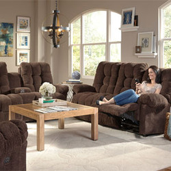 Plush Reclining Sofa