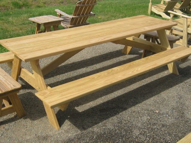 Attached Bench Tables