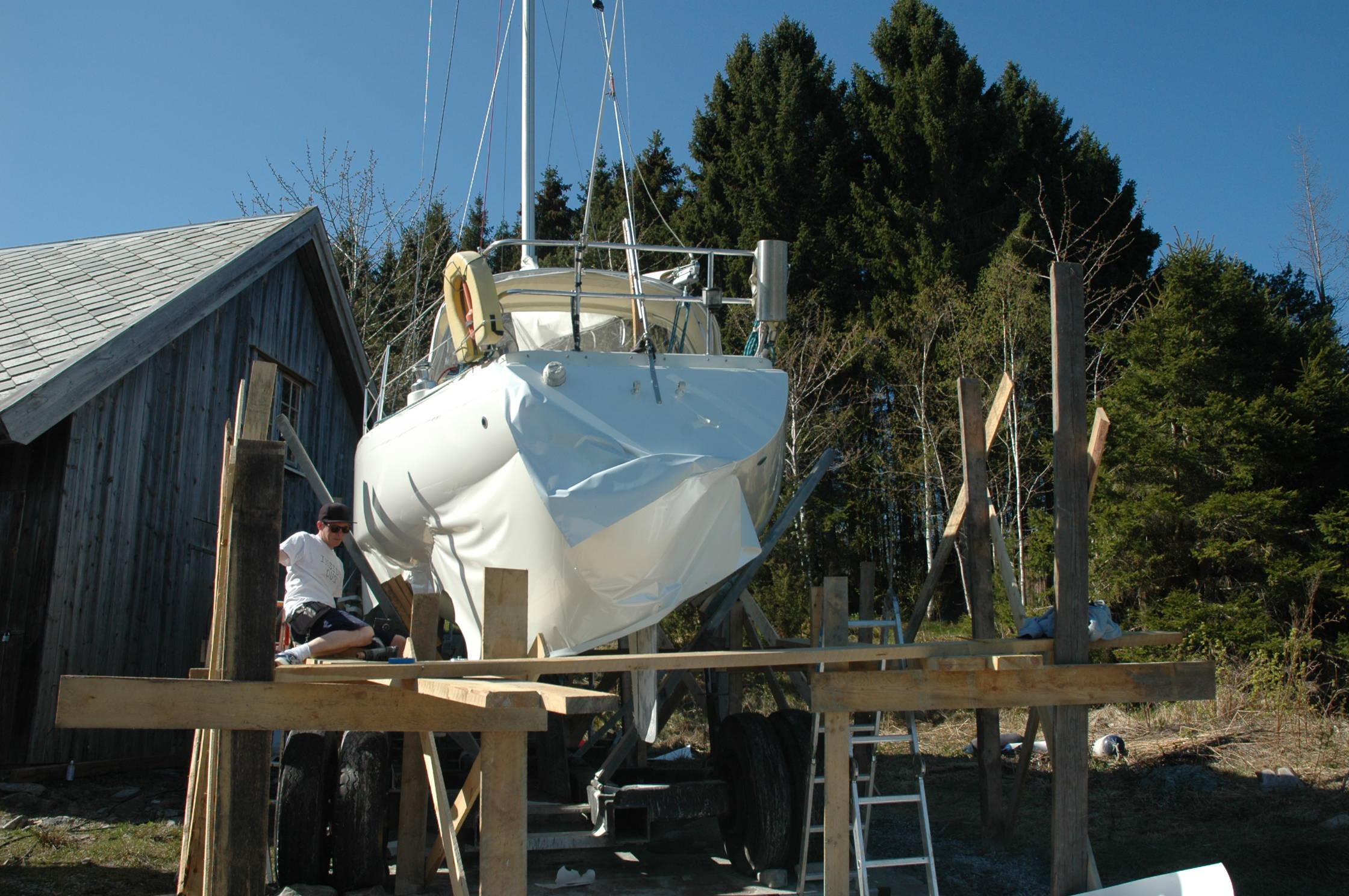 Helfoliering av seilbåt