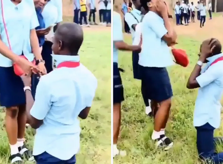 Student proposes to his mate after WASSCE-Watch Full Video