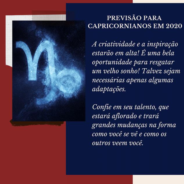 Previsão Astrológica para Capricórnio em2020