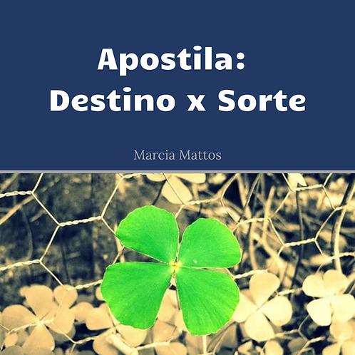 Apostila em PDF - Destino x Sorte