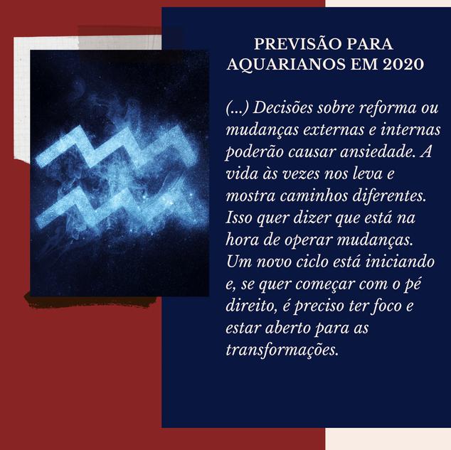 Previsão Astrológica para Aquário em2020