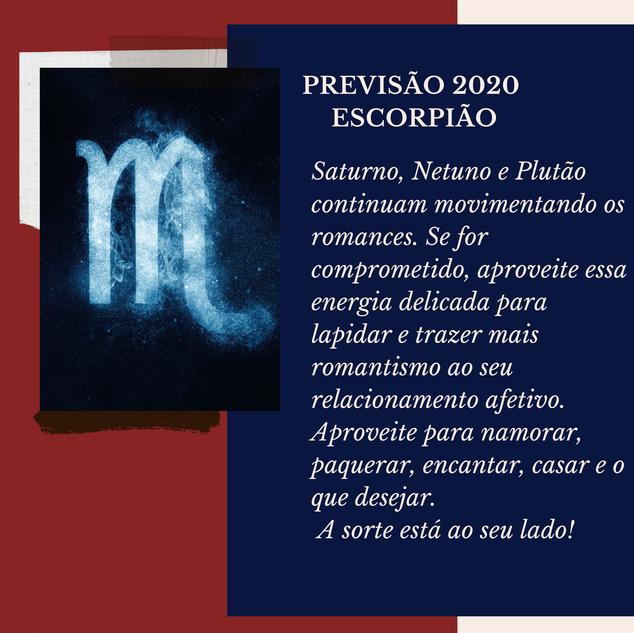 Previsão Astrológica para Escorpião em 2020