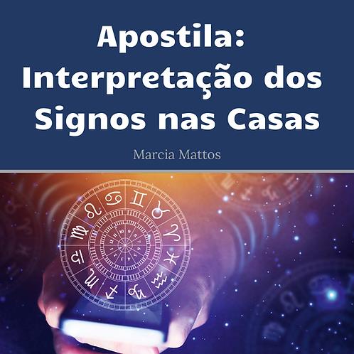 Apostila em PDF - Interpretação dos Signos nas Casas