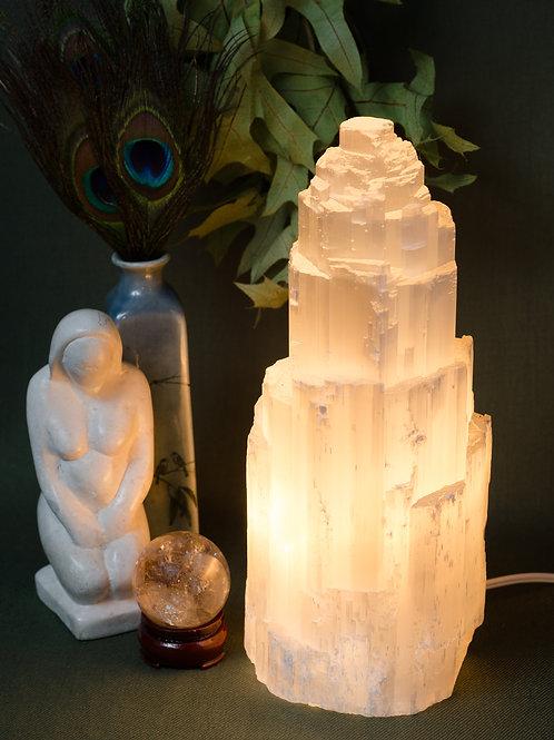 Selenite Tower Lamp