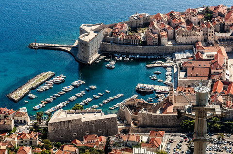view to Dubrovnik, old town
