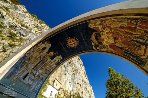 Entry to Ostrog Monastery
