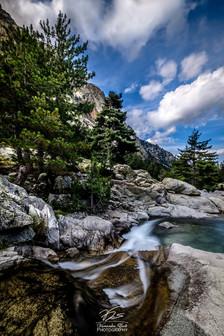A micro-waterfall - Gorges de la Restonica