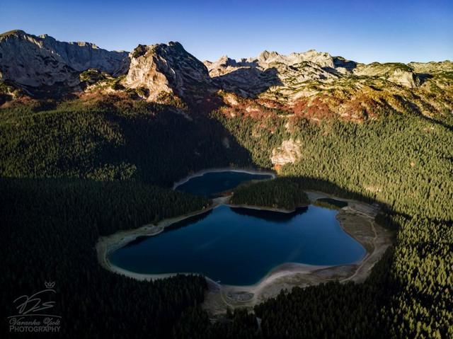 Crno jezero from the air