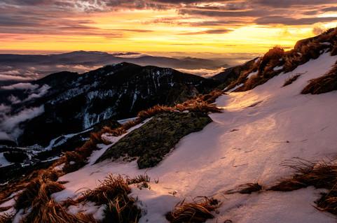 Magic sunset at 2000m