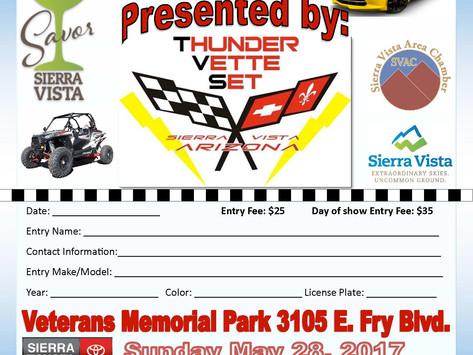 Savor Sierra Vista Car Show - Sunday, May 28, 2017