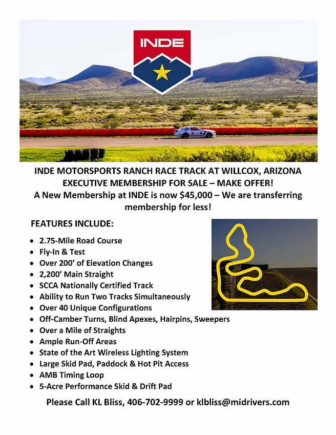 INDE MOTORSPORTS RANCH RACE TRACK AT WIL