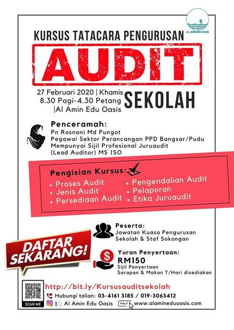 Kursus Tatacara Pengurusan Audit Sekolah