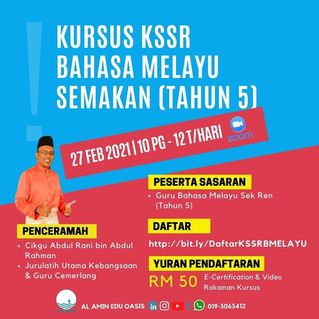 Kursus KSSR Bahasa Melayu Semakan (Tahun 5)
