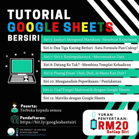 Siri - Siri Kursus Google Sheets