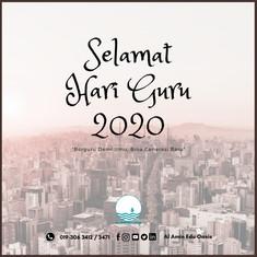 Selamat Hari Guru 2020