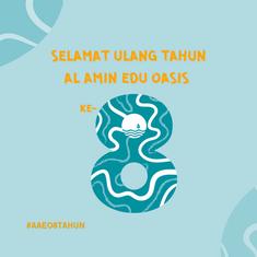 Al Amin Edu Oasis Turns 8!