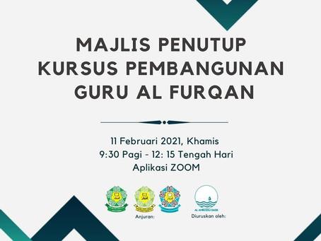 Majlis Penutup Kursus Pembangunan Guru Al Furqan