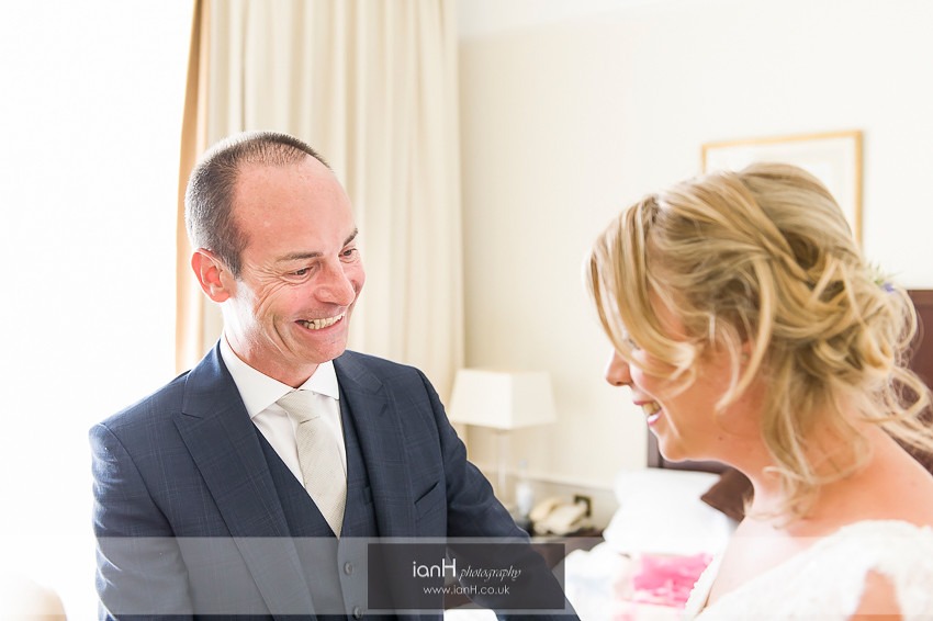 Father with Bride at Marriott Bournemouth