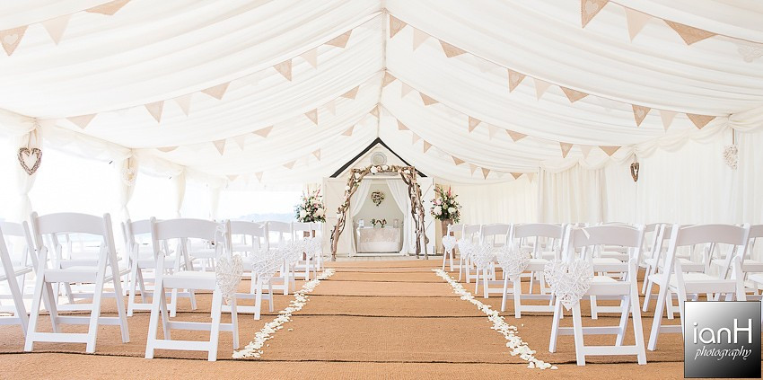 Lucy and Wayne - Beach Weddings Bournemouth marquee