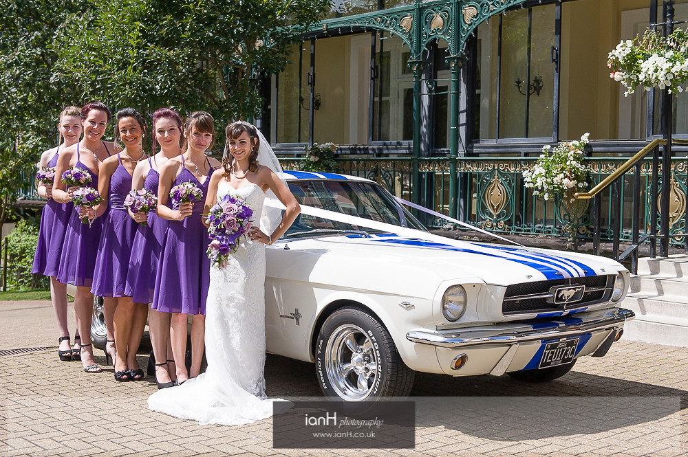 Ford Mustang at Norfolk Hotel Bournemouth wedding