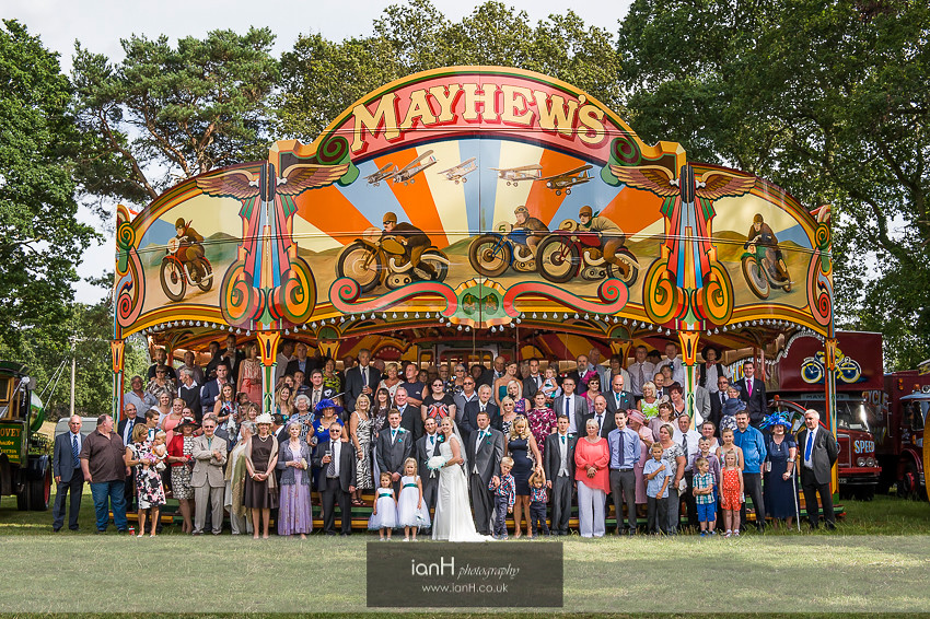New Forest funfair wedding