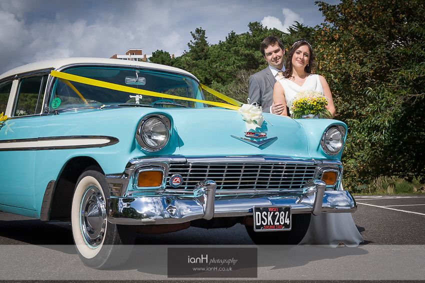1950s Chevrolet Bel Air wedding car