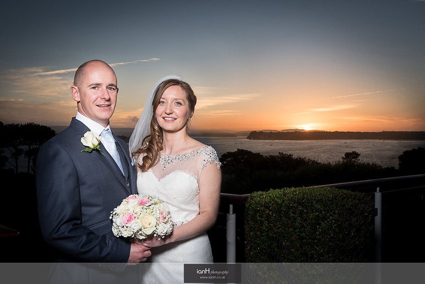 Sunset wedding at Harbour Heights Hotel Poole