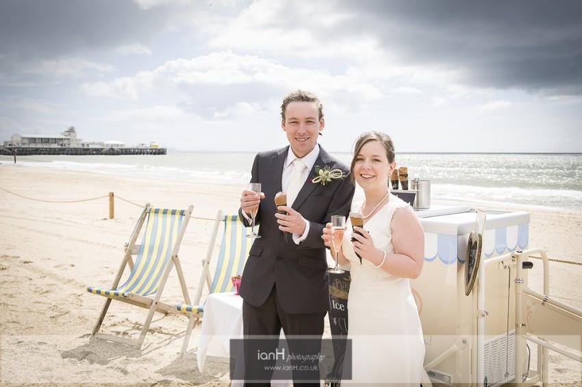 Bournemouth beach wedding anniversary Emma
