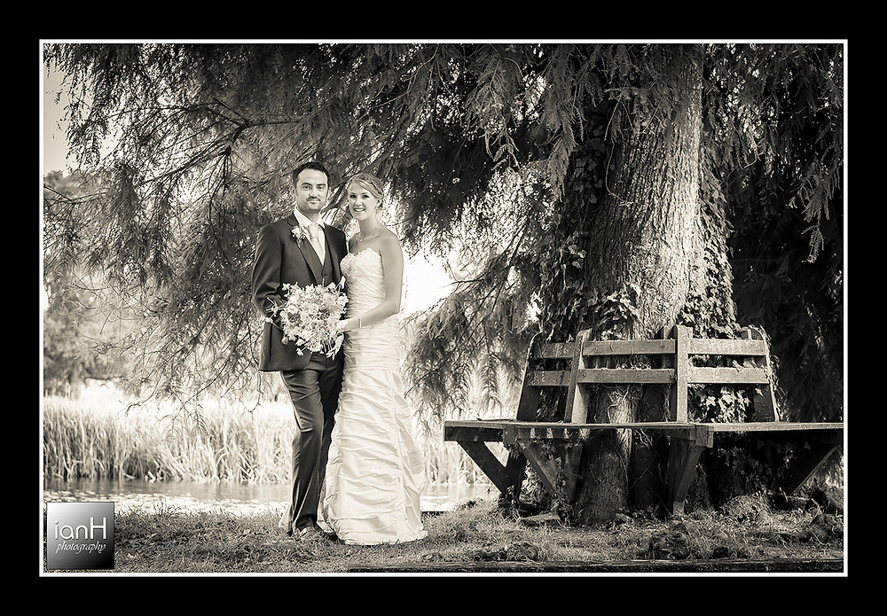 Hampshire Wedding - Teoni and Bradly relaxing by the river