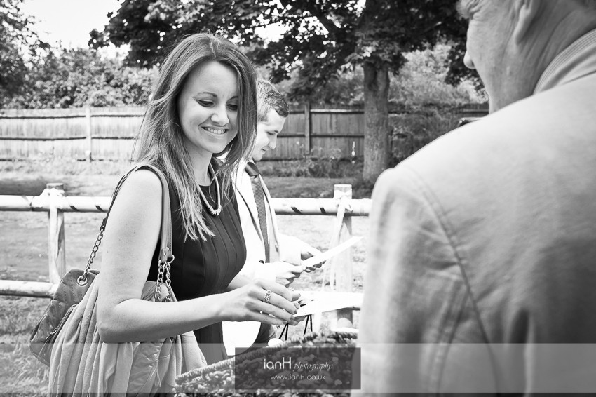 Orders of service at a Hampshire wedding