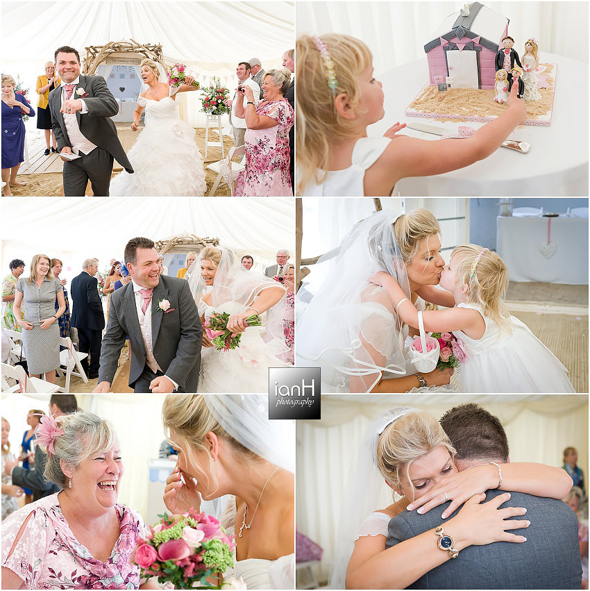 Fun laughter and tears at a Bournemouth beach wedding