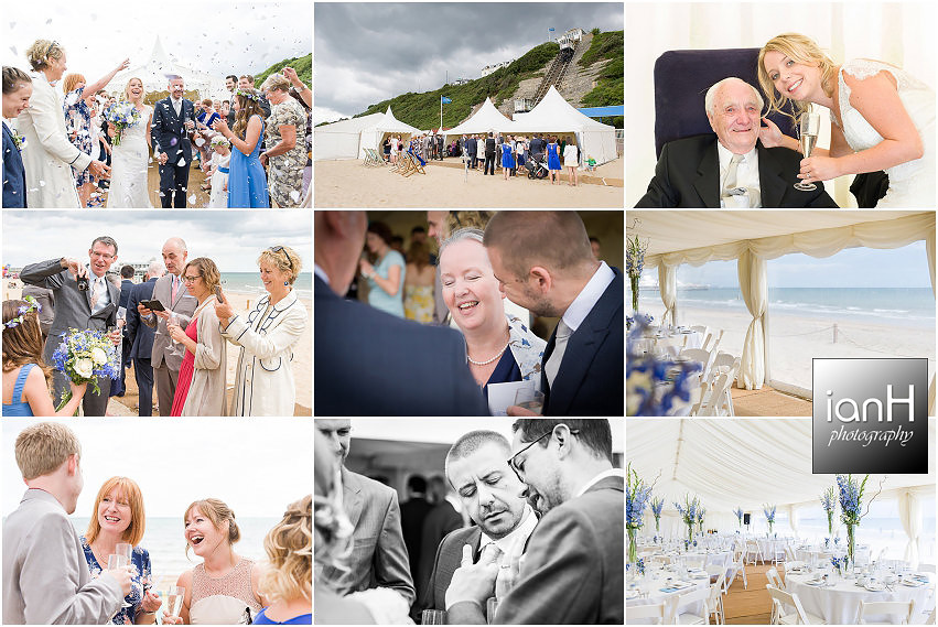 Wedding on Bournemouth beach