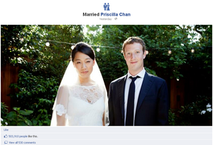 Facebook founder Mark Zuckerberg gets married in California - simple wedding ceremony