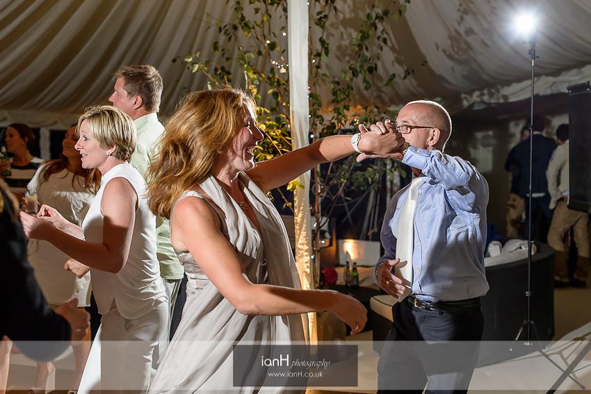 Dancing at Studland wedding