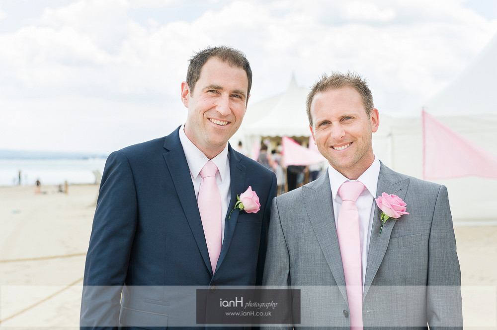 Groom and Best Man - Bournemouth beach wedding