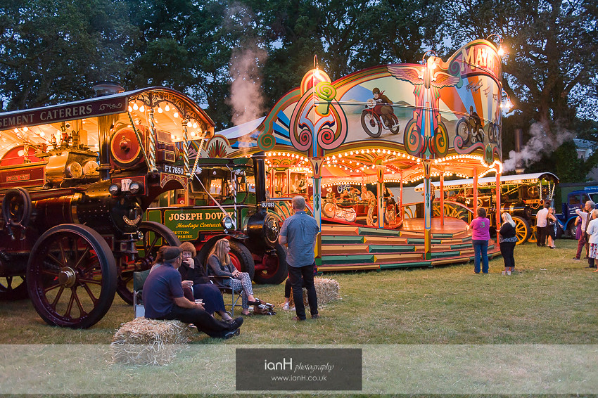 Steam engines at night - New Forest wedding