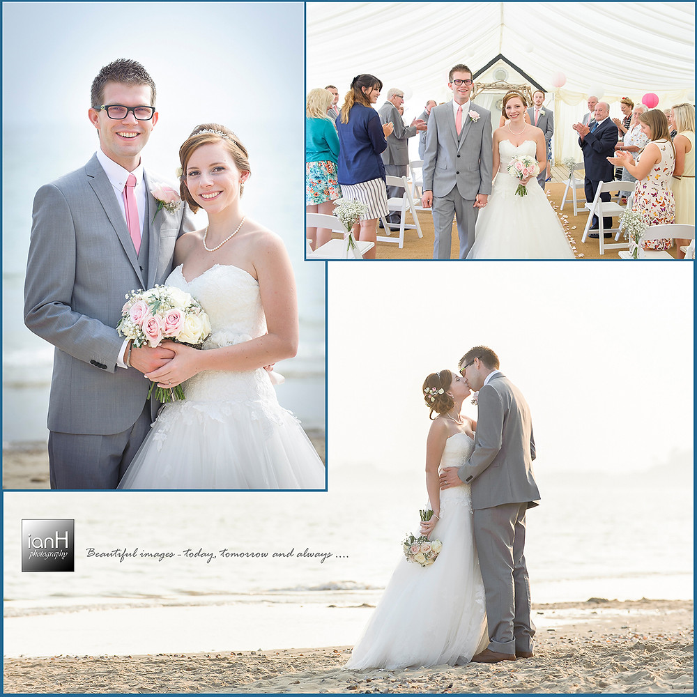Beach Weddings Bournemouth-Crystal beach wedding
