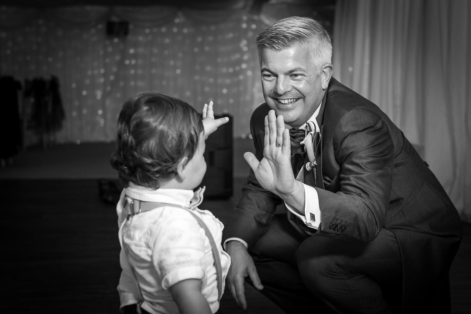 Wedding high-five
