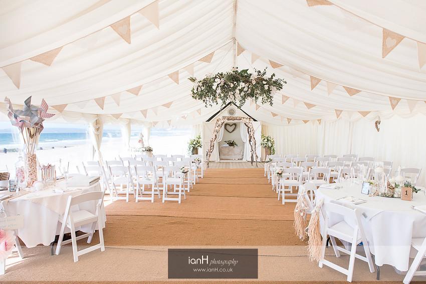 Beach Weddings Bournemouth marquee