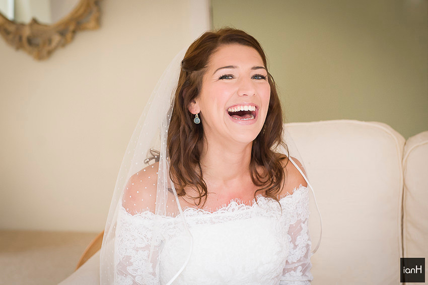 Smiling Bride at Sopley Mill