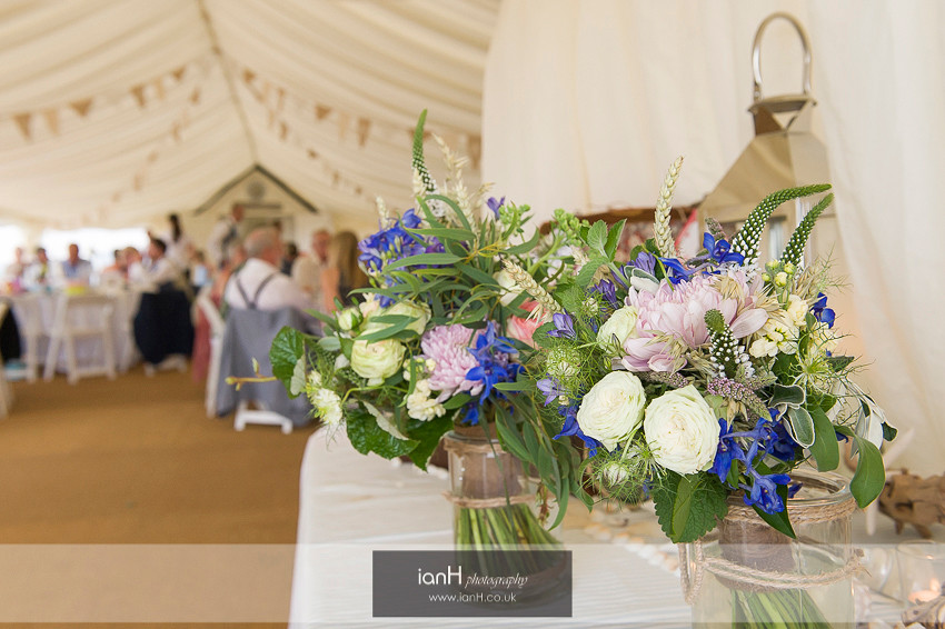 Bridal bouquet for a Bournemouth beach wedding in Summer