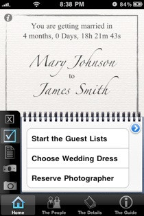 iphone app for wedding planning