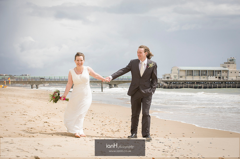 Beach Wedings Bournemouth photographer