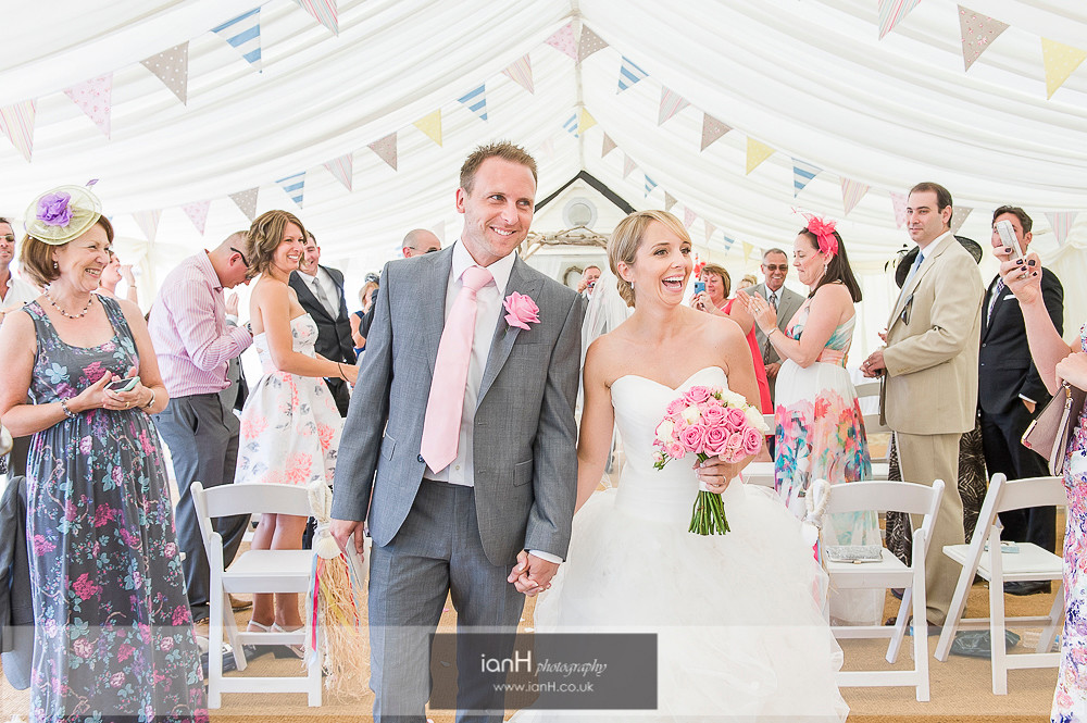Down the aisle at Beach Weddings Bournemouth