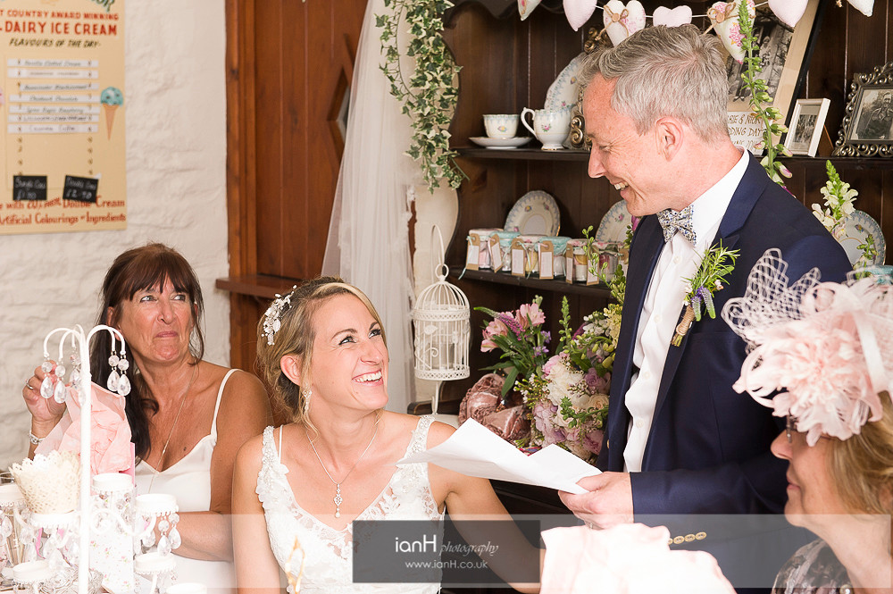 Speeches at Studland Farm wedding