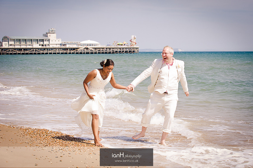 Beach Weddings Bournemouth Bride and Groom