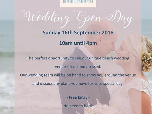Beach Weddings Bournemouth 2018 Open Day