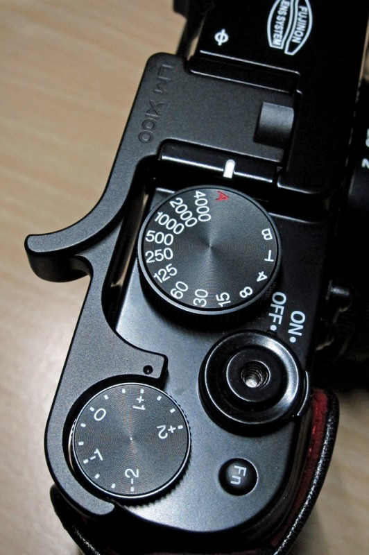 Photo of the Lensmate grip for the Fujifilm X100 camera by Dorset wedding photographer